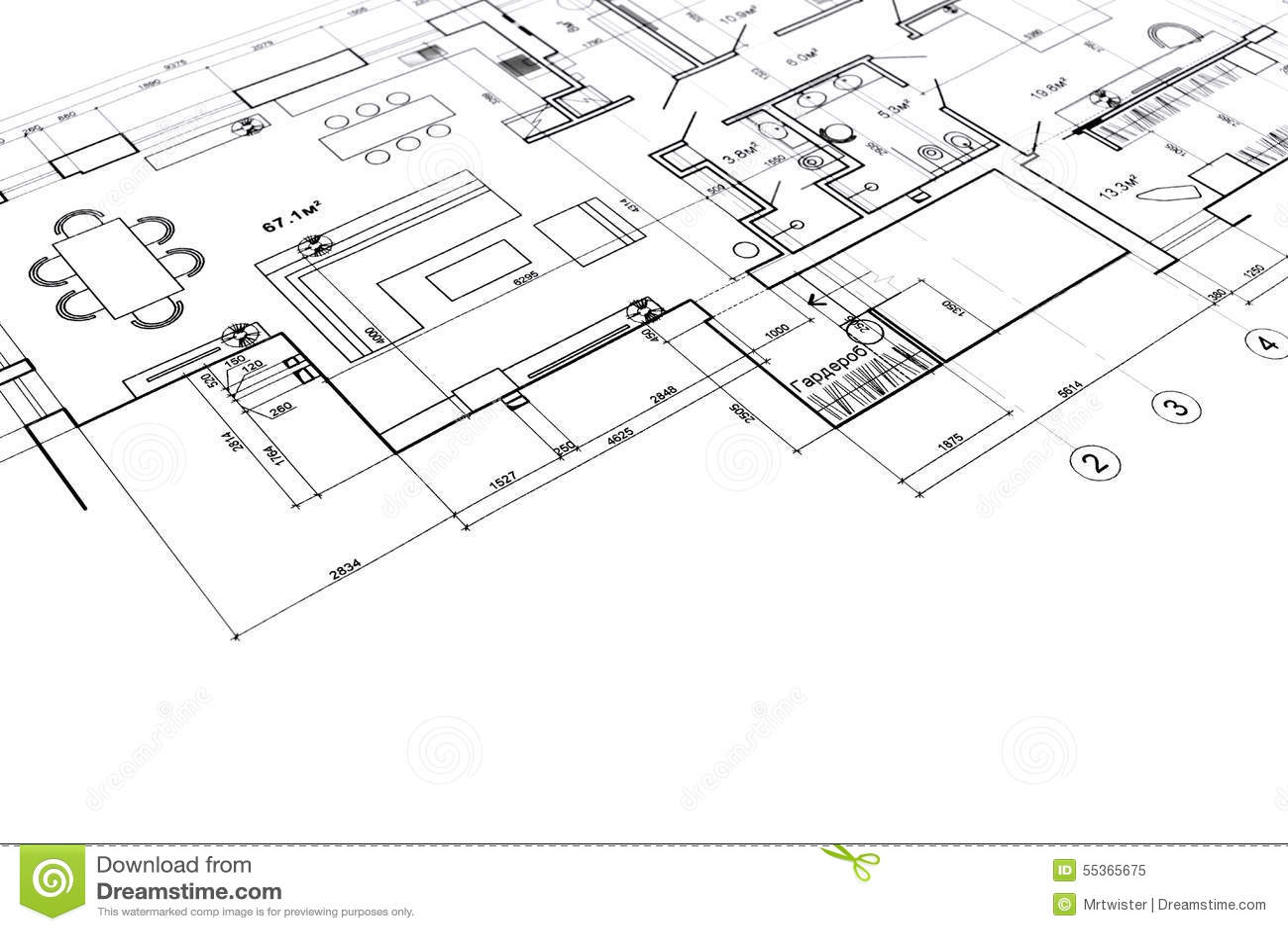 Home Interior Project Stock Illustration