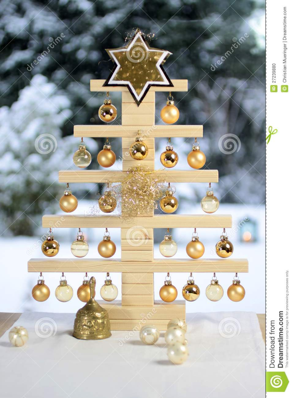 Home Made Wooden Christmas Tree Stock Photo Image Of