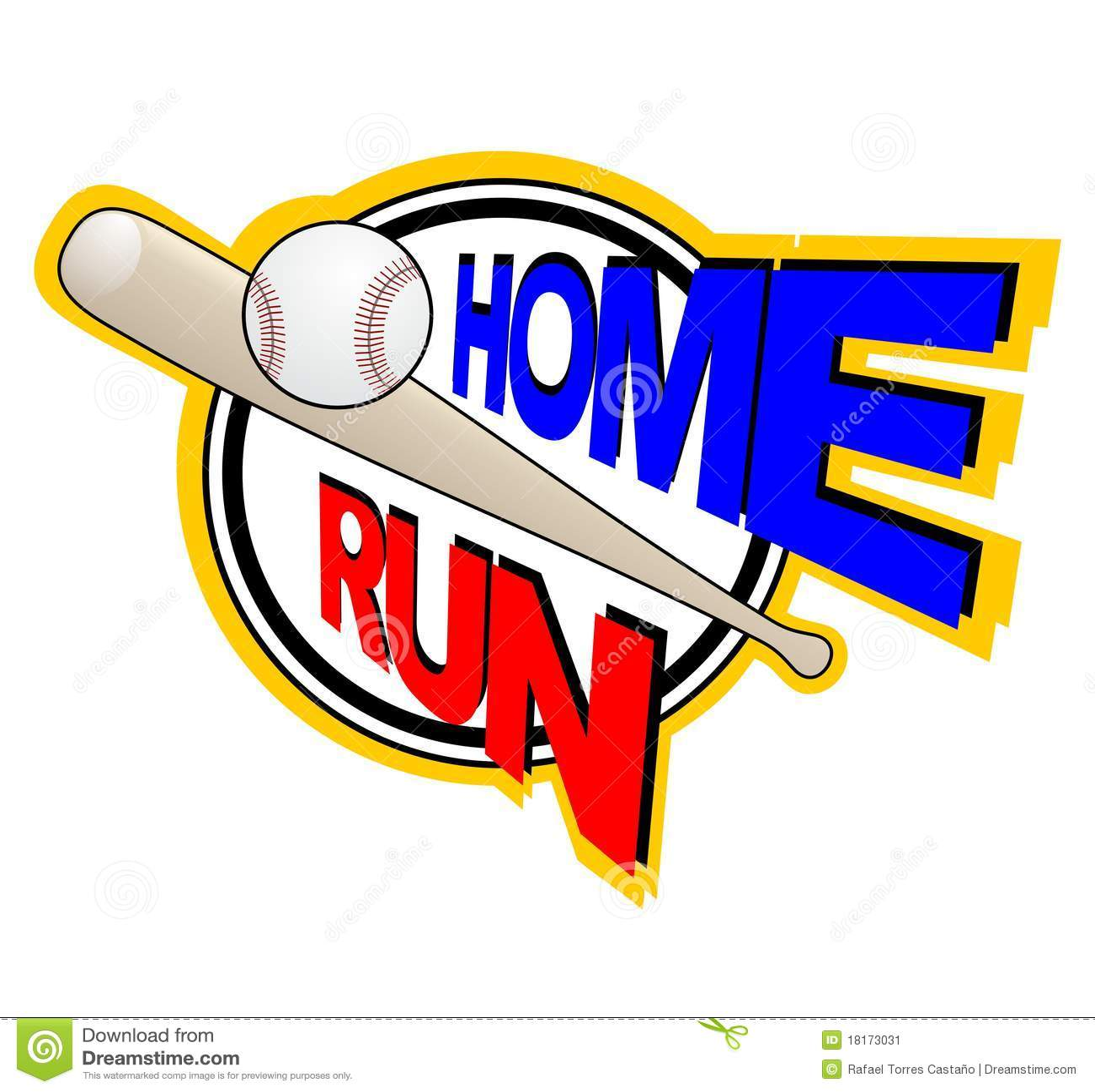 Home Baseball Clip Art Run