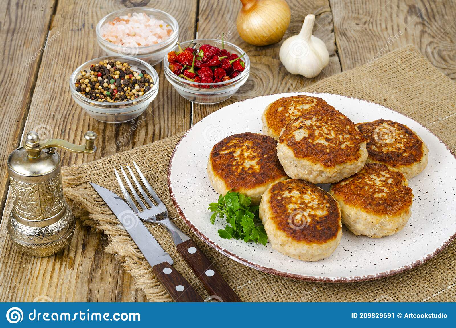 homemade meat cutlets on wooden table studio photo stock image image of juicy dinner 209829691
