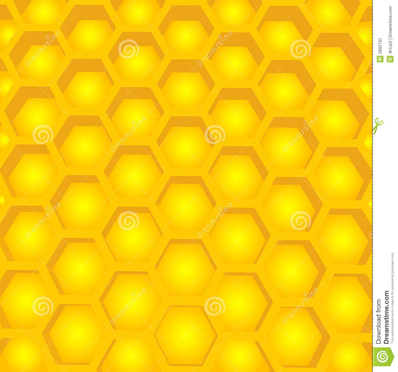 Honey Cell Structure Stock Image