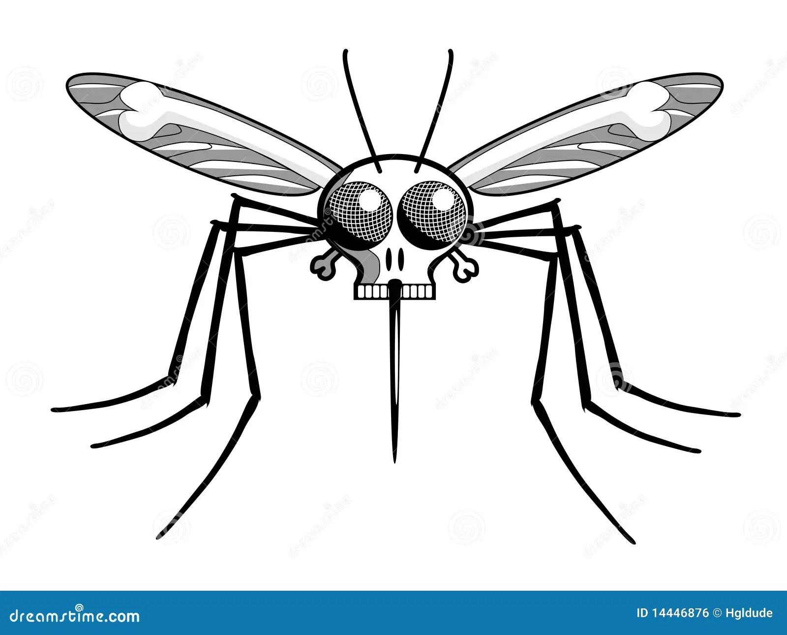 Hoofd De Malariamug Van Sterfgevallen Vector Illustratie