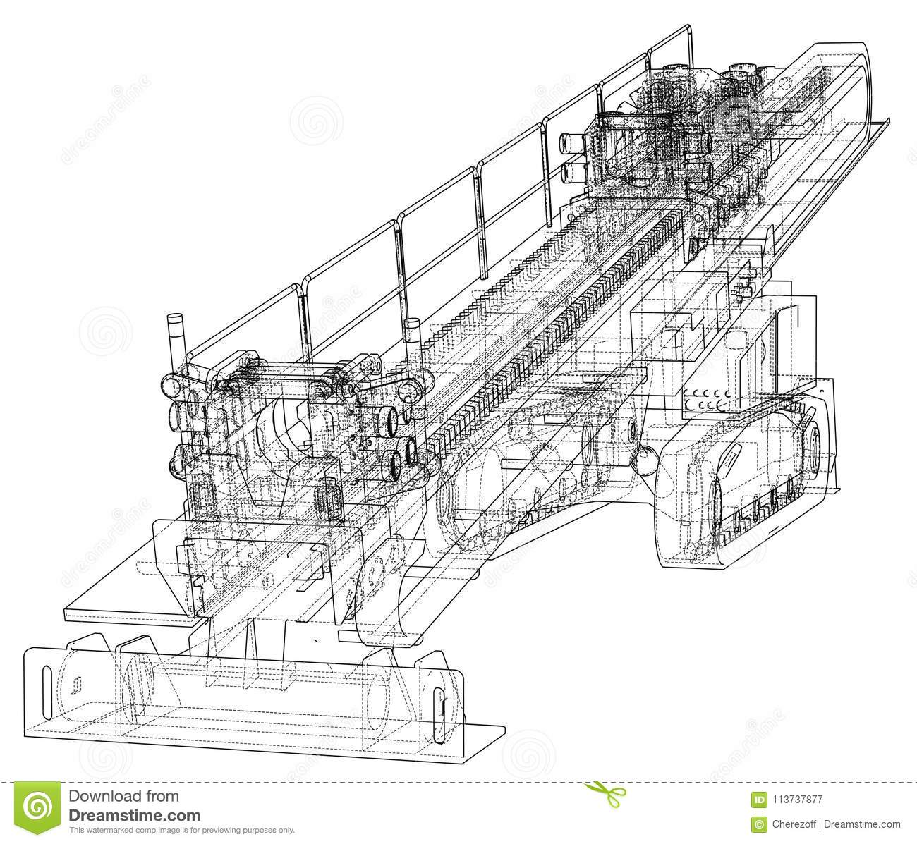Horizontal Directional Drilling Machine Vector Stock