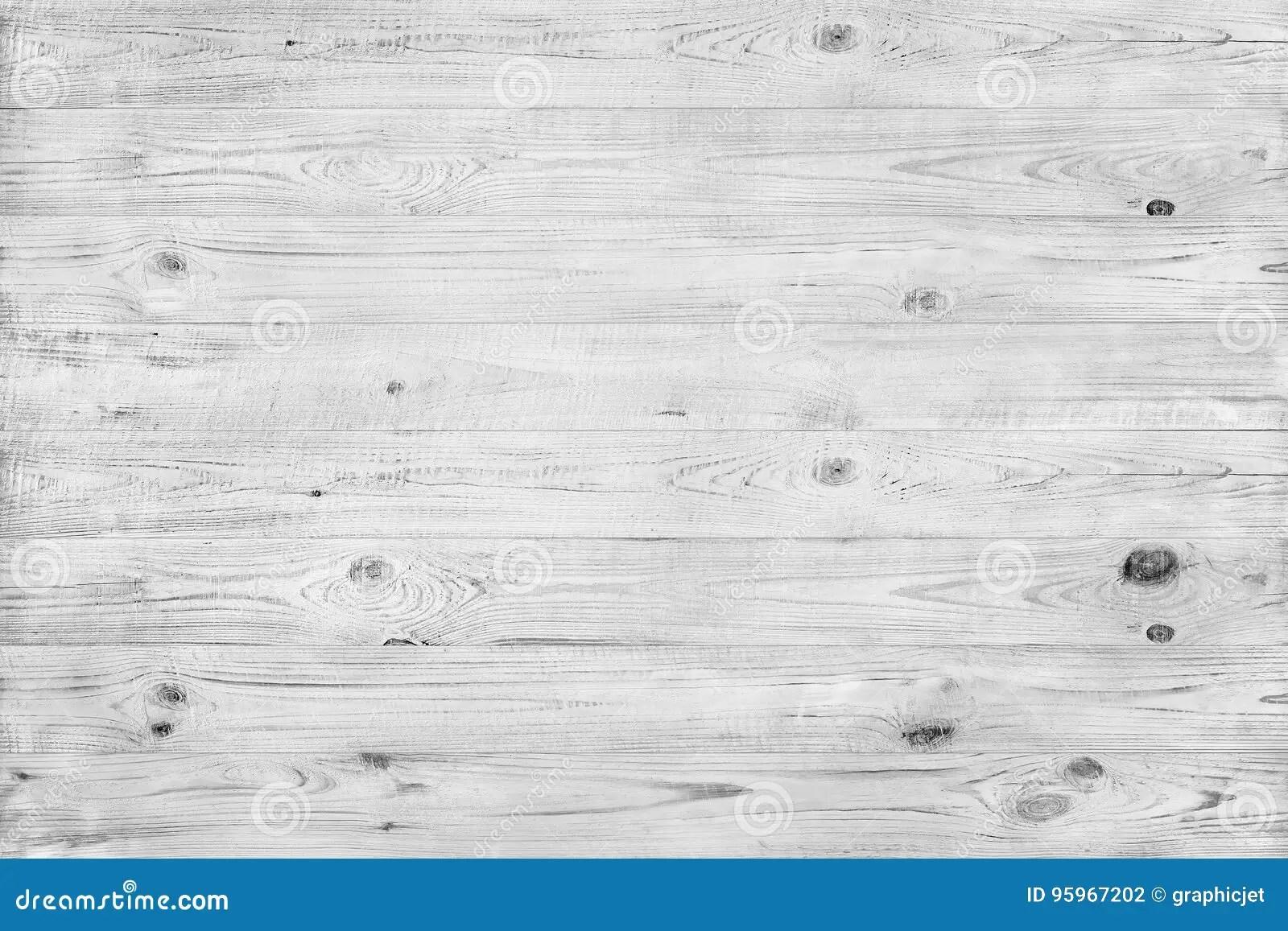 Horizontal Light Wood Texture In Grey Stock Photo
