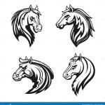 Horse Animal Tribal Tattoo Or Racing Sport Mascot Stock Vector Illustration Of Mane Emblem 123706171