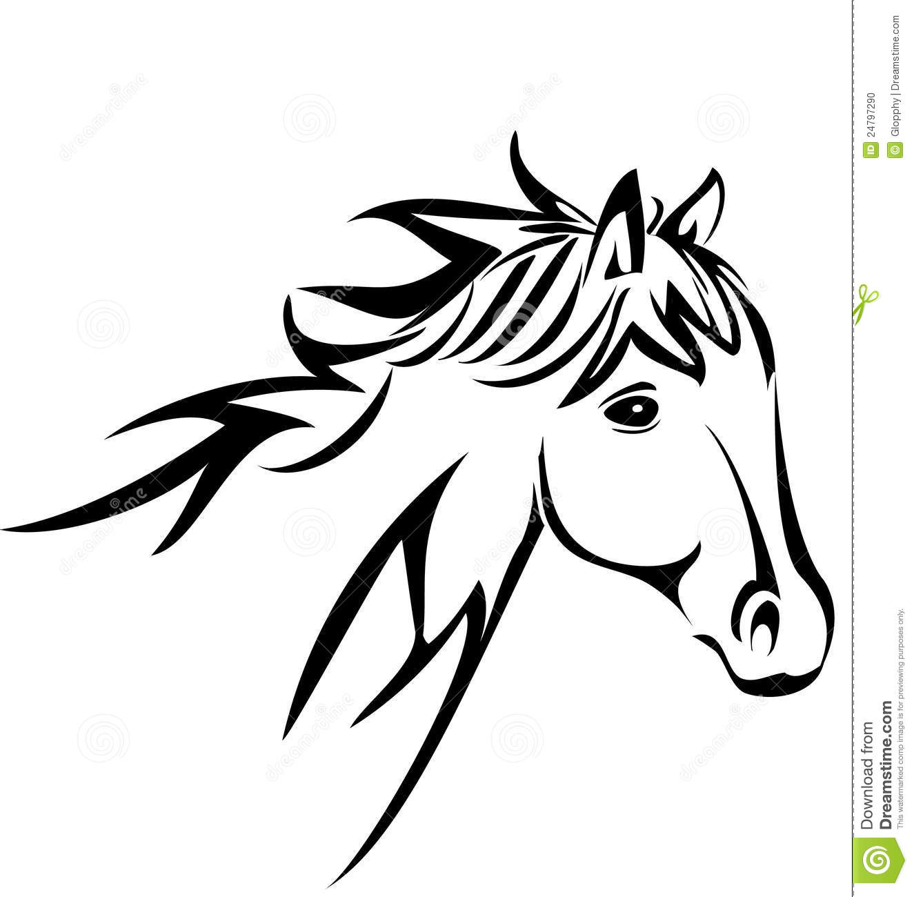 Horse Silhouette Logo Vector Illustration