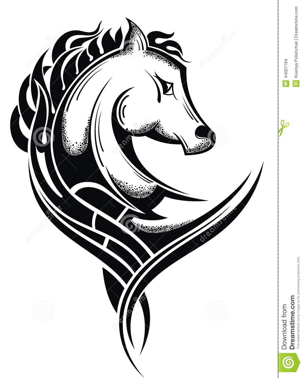 Horse Head Stock Vector Image Of Sketch Riding