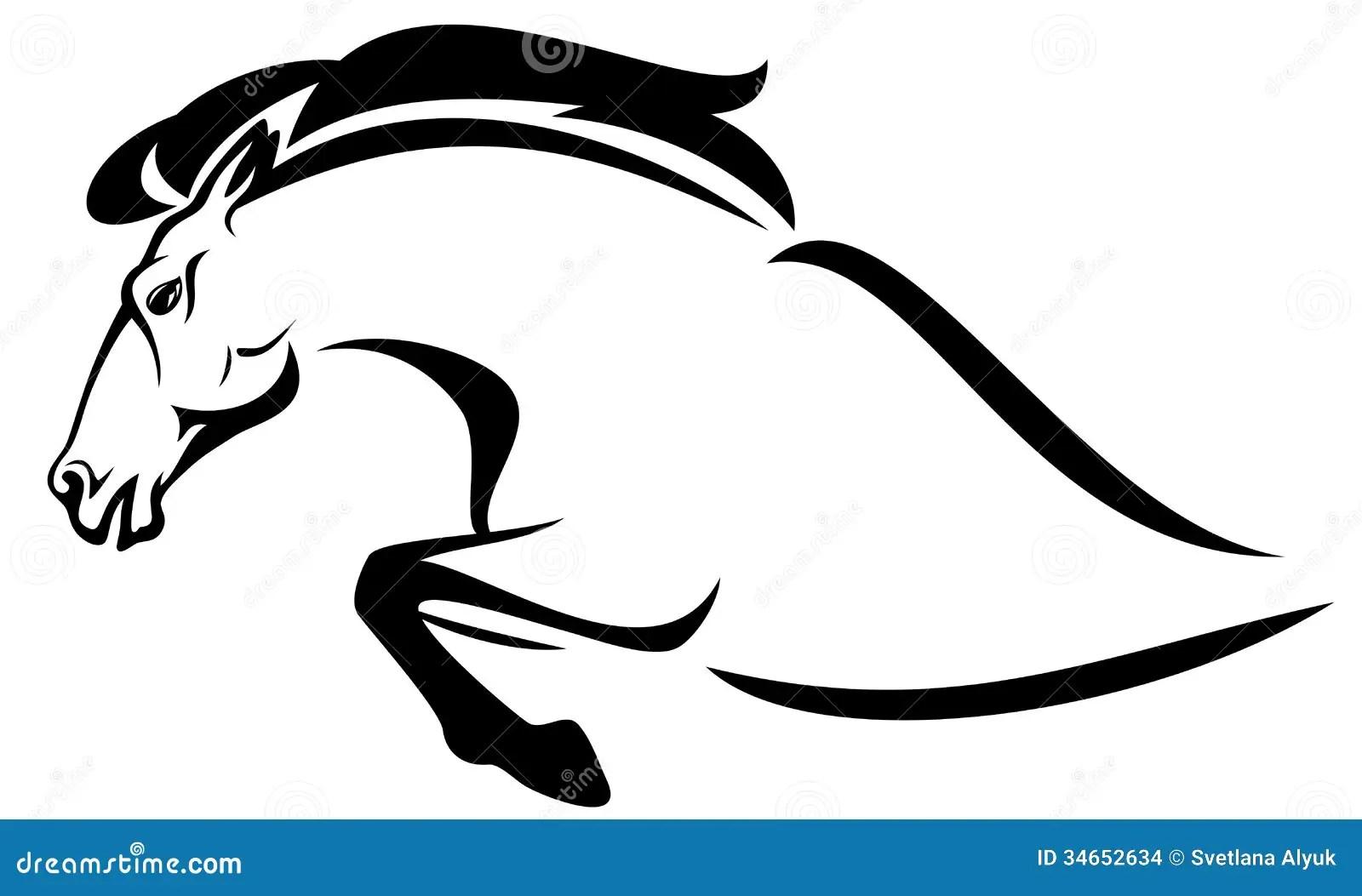 Horse Jump Vector Stock Vector Illustration Of Jumping