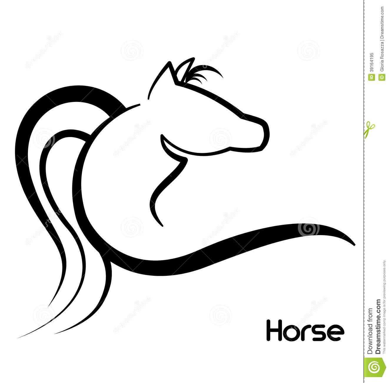 Horse Stylized Logo Stock Vector