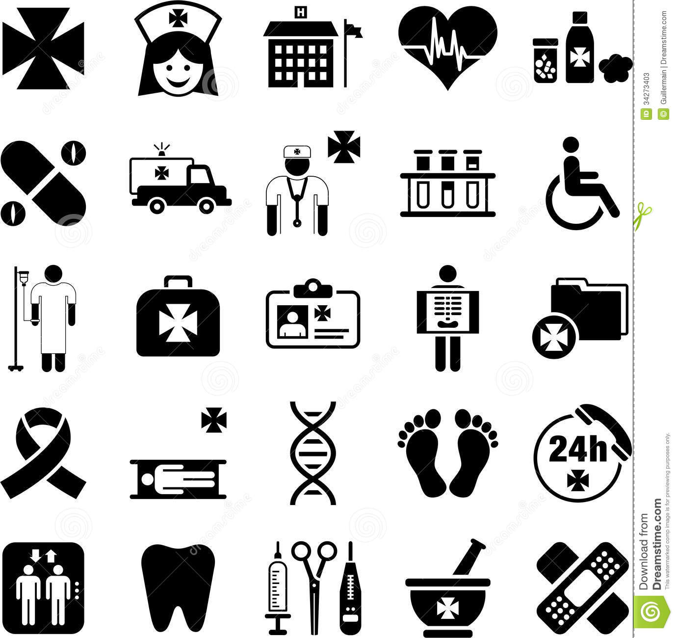 Hospital Health And Medicine Icons Stock Photos