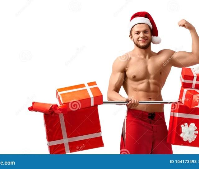 Hot Ripped Santa Showing His Biceps