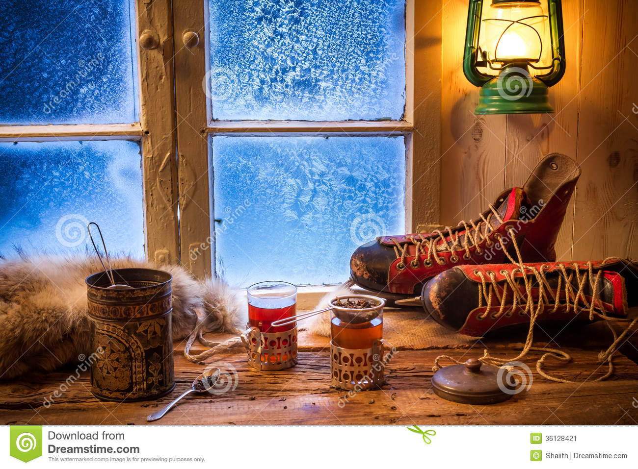 Hot Tea In Cold Evening Stock Image Image Of Season