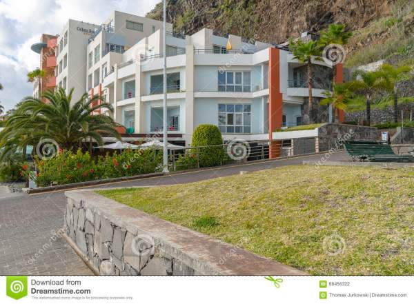 Hotel in Calheta editorial photography. Image of madera ...