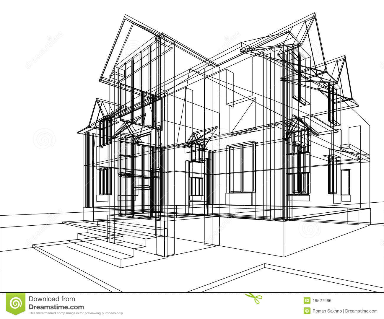 House Construction Sketch Stock Illustration Illustration