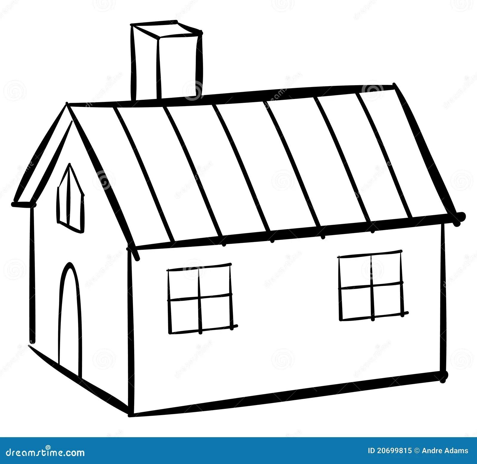 House Outline Stock Vector Illustration Of White Cottage