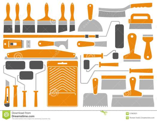 Royalty Free Vector House Painting Tools And Equipment