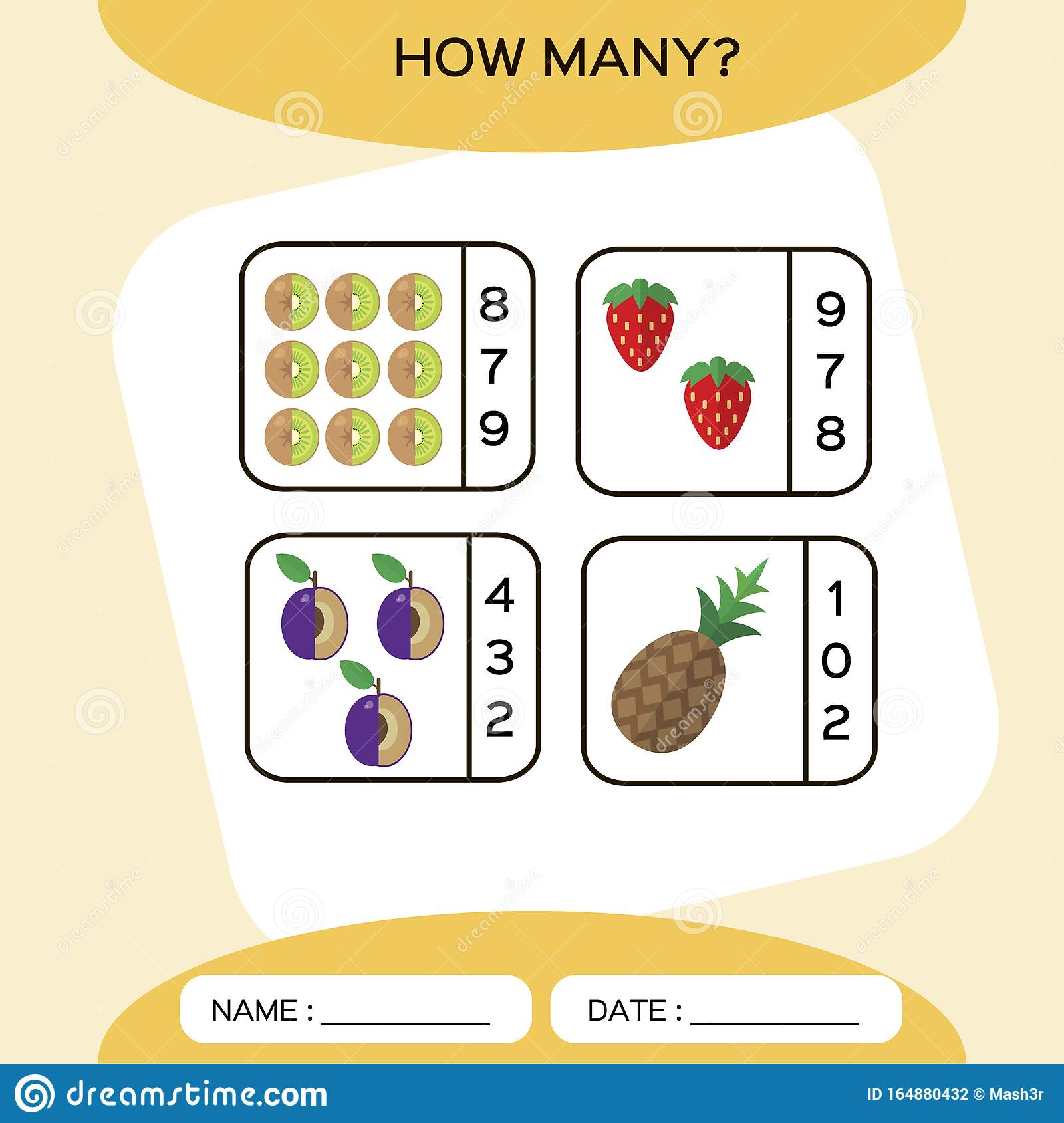 How Many Count Game Education Counting Game For