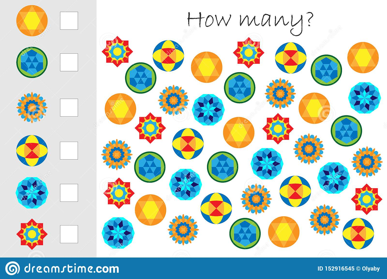 How Many Counting Game With Mandalas For Kids Educational
