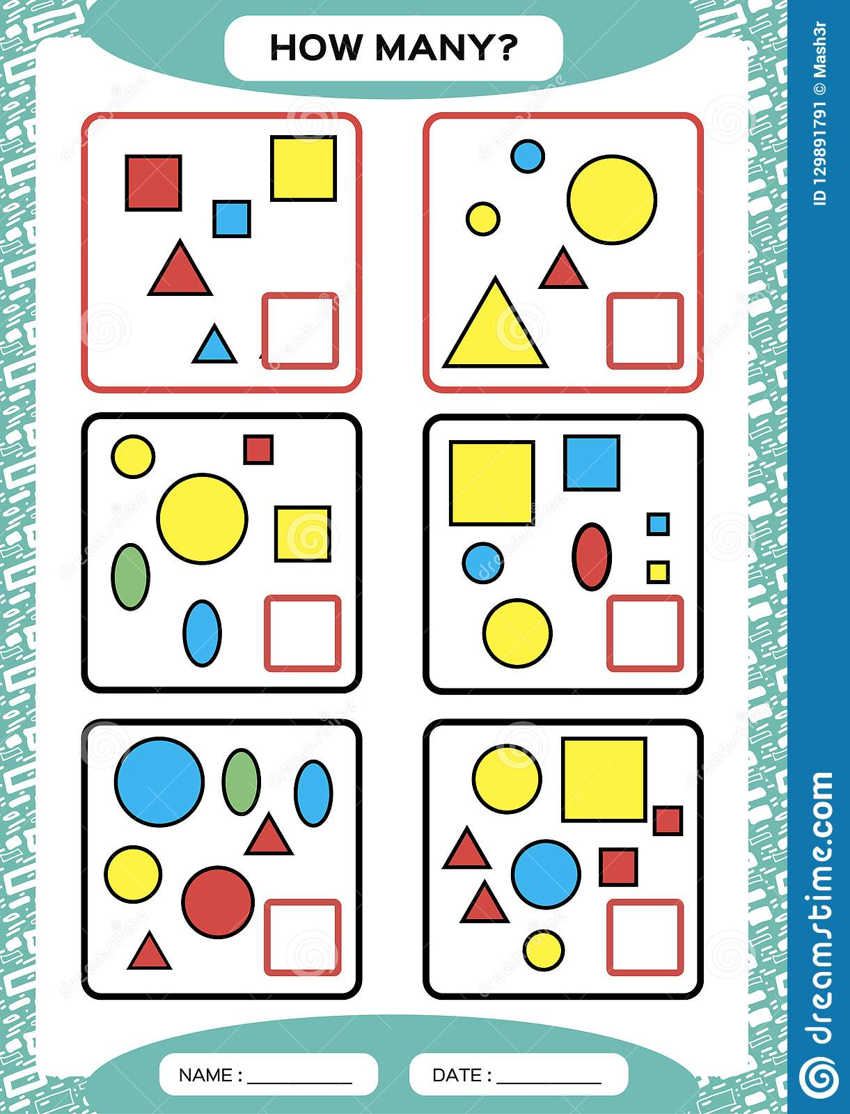 How Many Counting Game For Preschool Children