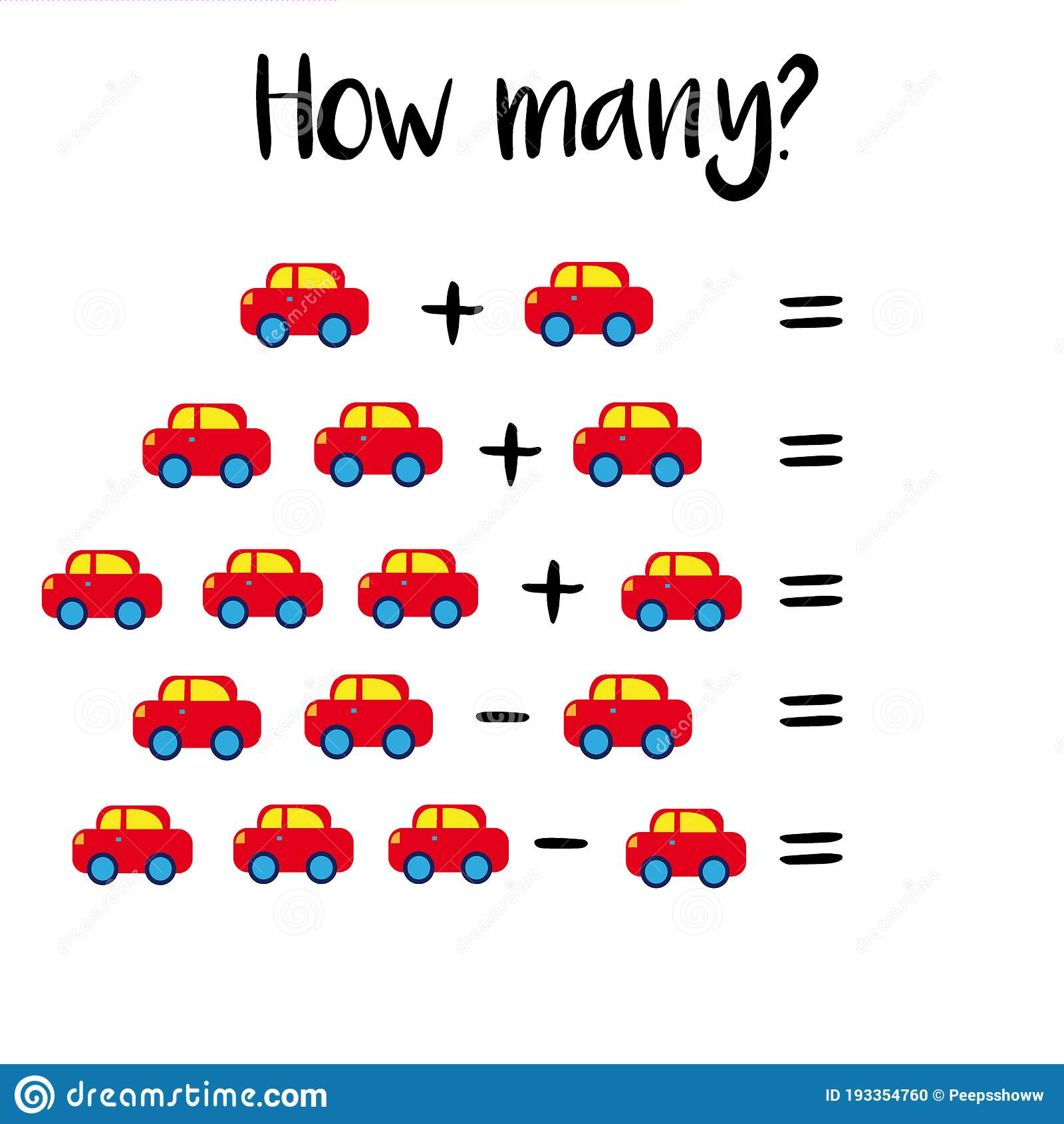 How Many Objects Eschool Counting Activities Printable