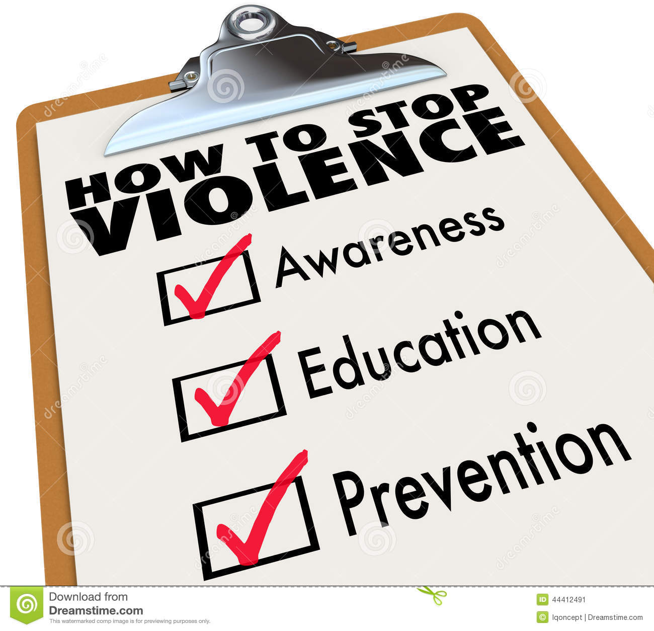 How To Stop Violence Checklist Awareness Education