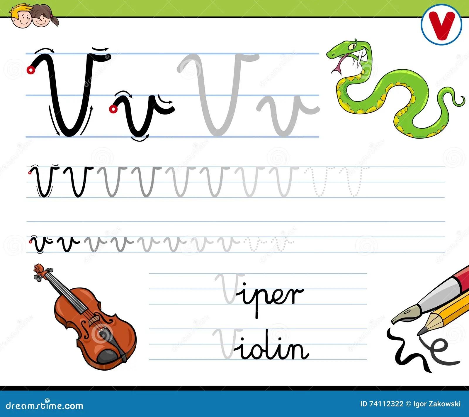 How To Write Letter V Stock Vector Illustration Of