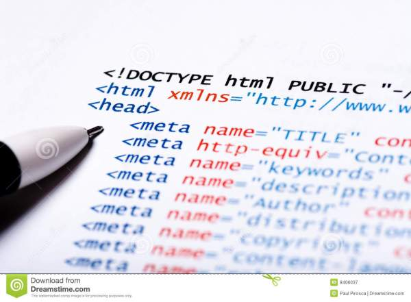 HTML Code stock image. Image of browser, markup, close ...