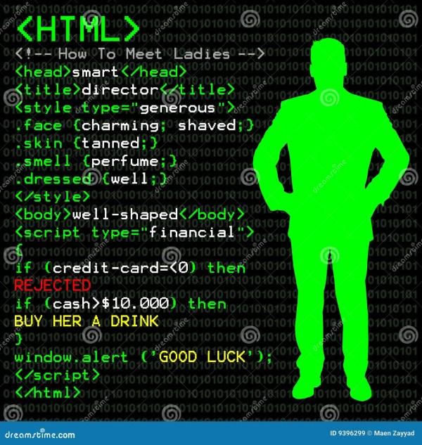 HTML Code for Men stock illustration. Illustration of ...