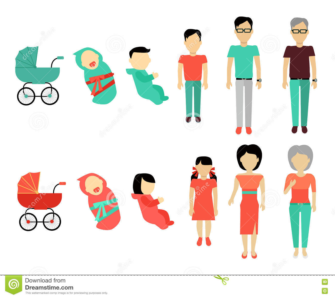 Human Growing Up Concept Illustration Stock Vector