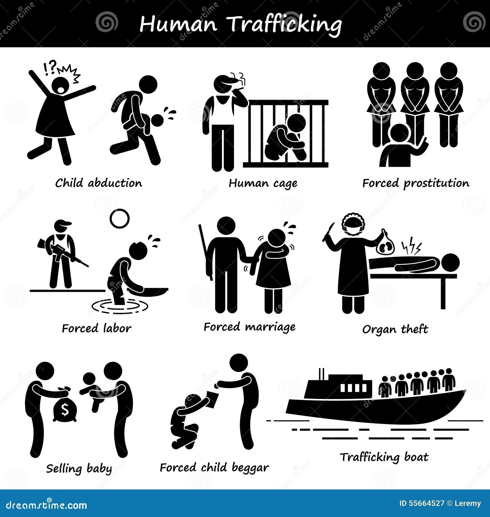 Human Trafficking Clipart Stock Vector Illustration Of