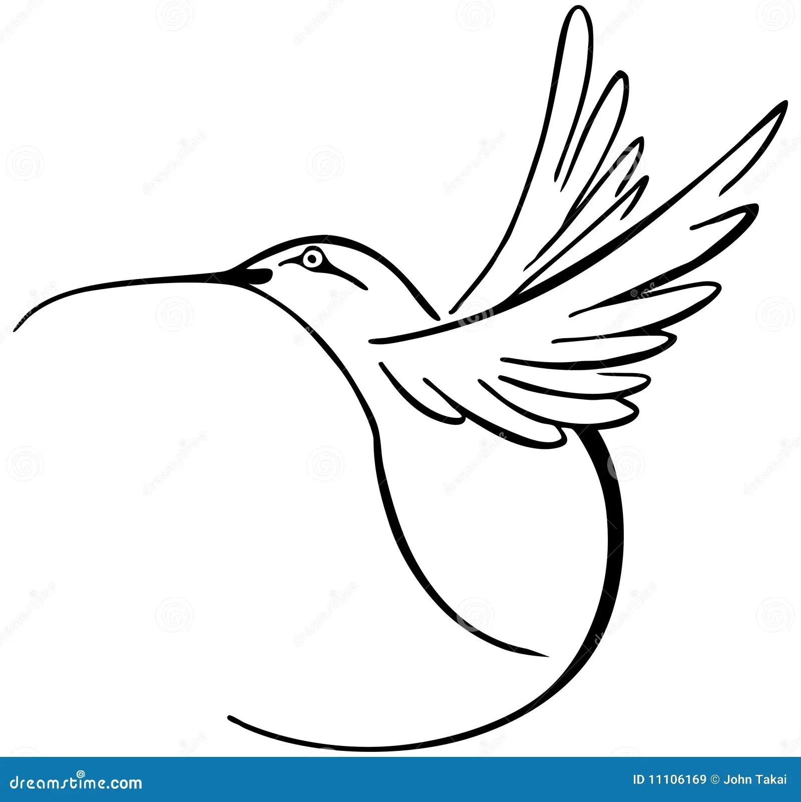 Hummingbird Stock Vector Illustration Of Bird Symbol