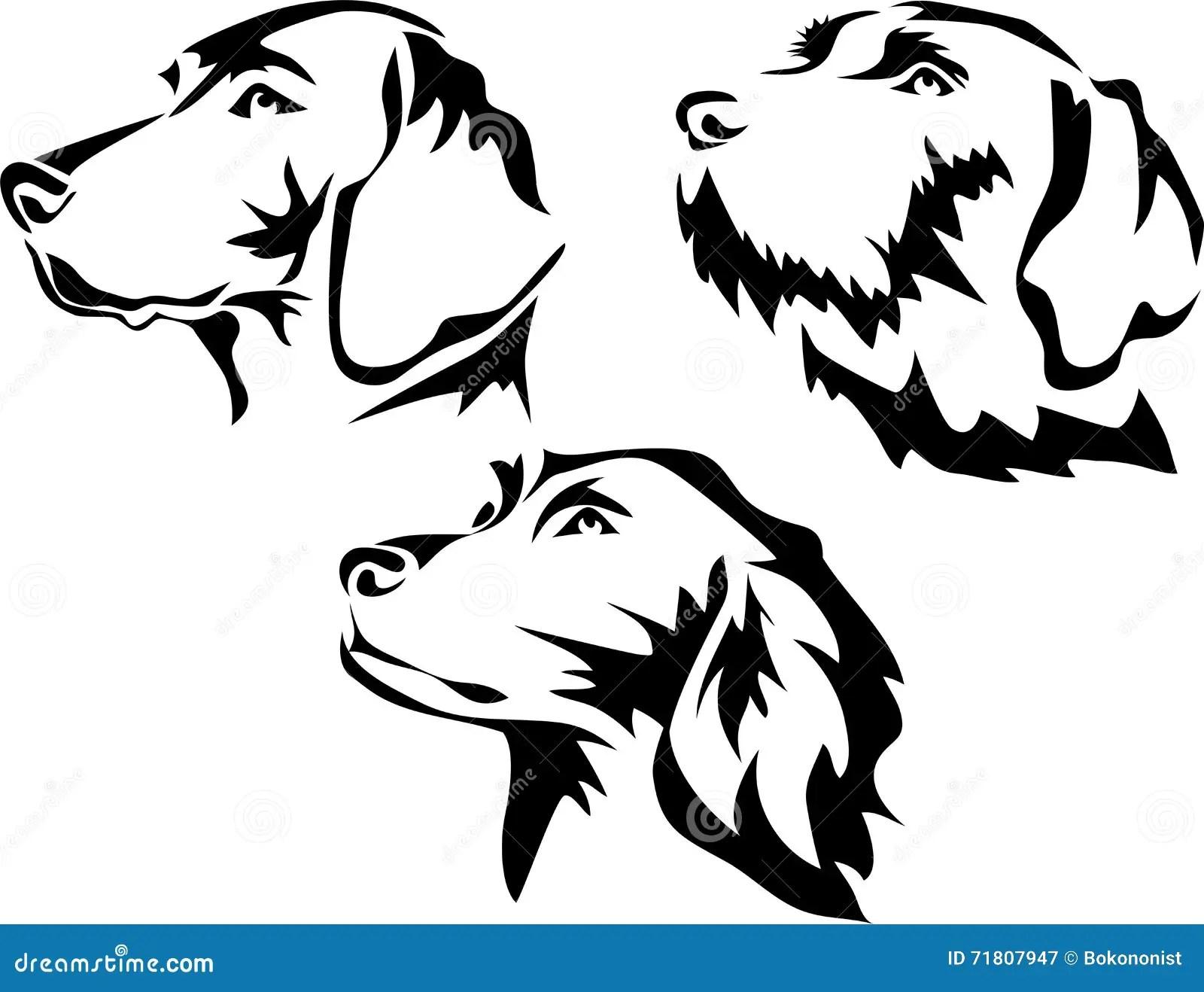 Hunter Dog Portrait Stock Vector Illustration Of Tracker