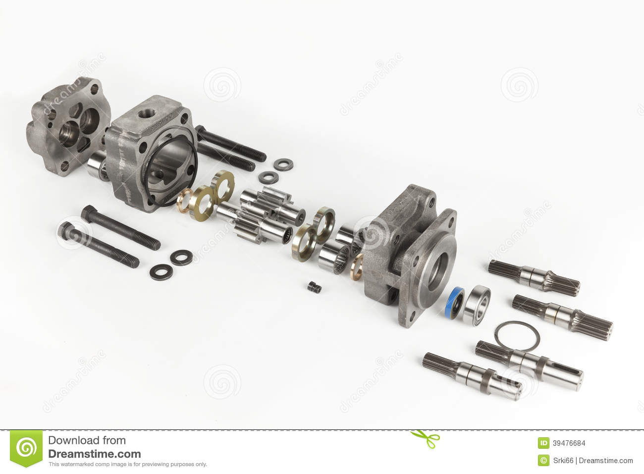 Hydraulic Engine Stock Photo