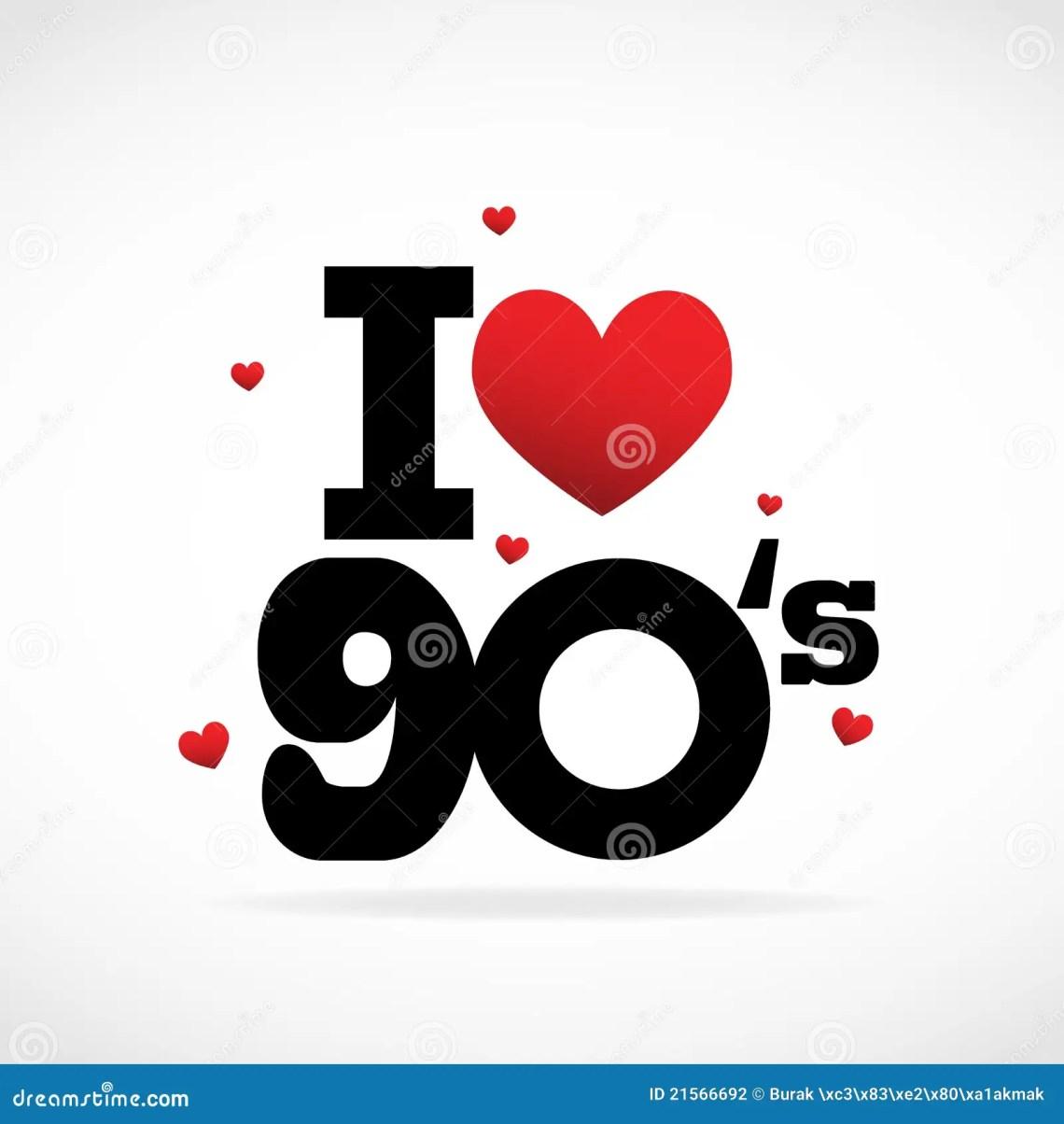 Download I Love 90's stock vector. Illustration of background ...
