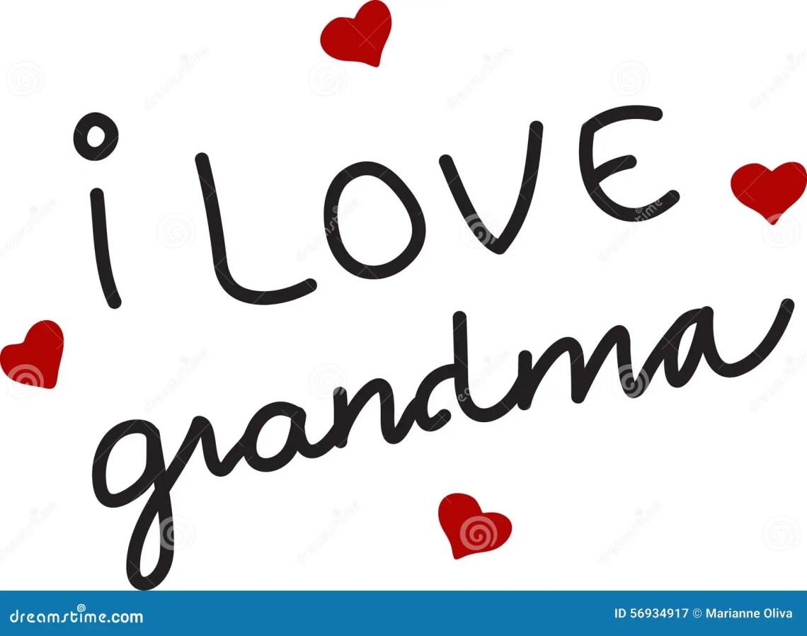 Download I Love Grandma stock vector. Illustration of holiday ...
