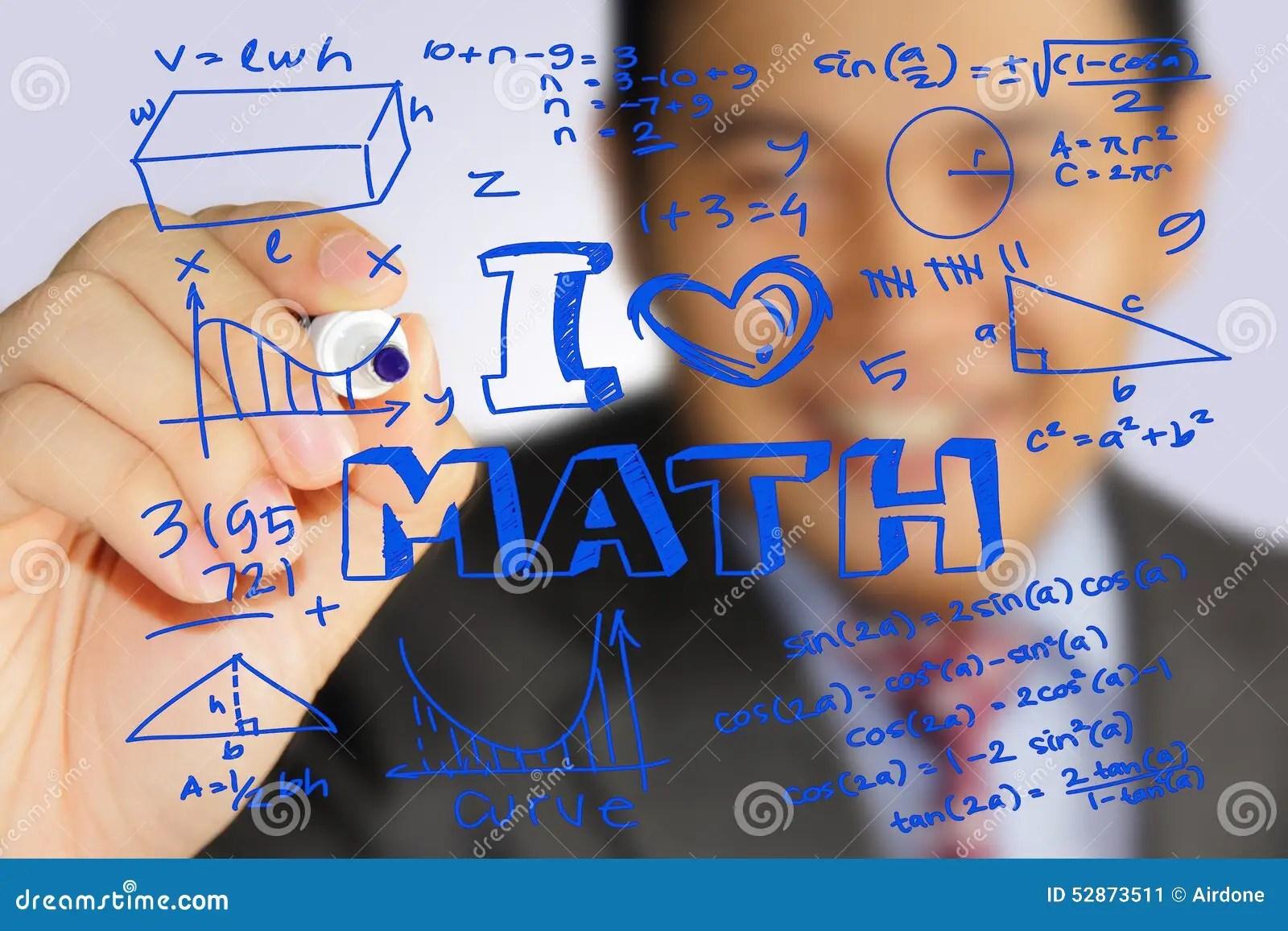 I Love Math Stock Photo