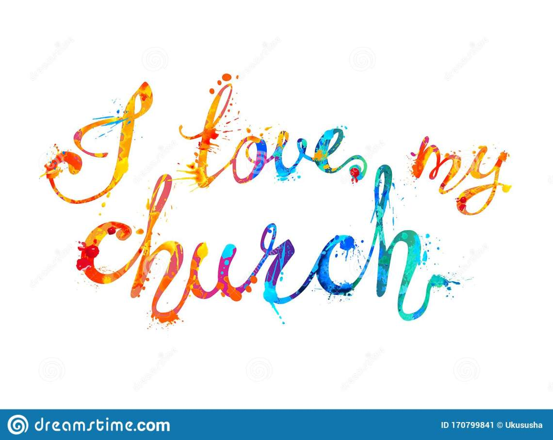 Download I Love My Church. Calligraphic Letters Stock Vector ...