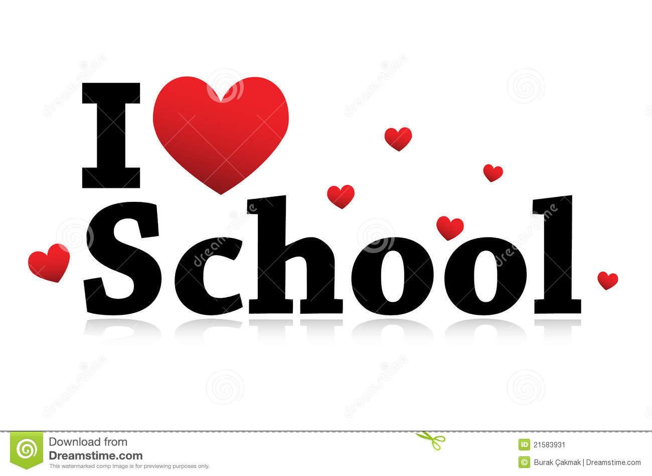I Love School Icon Stock Vector Illustration Of Like