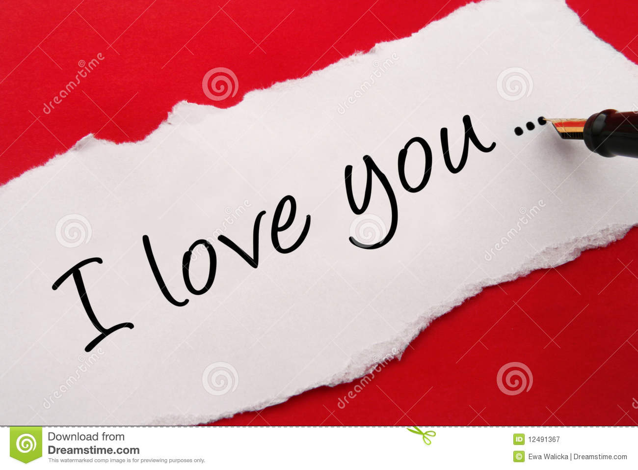 I Love You Card Stock Image Image Of Piece Letter