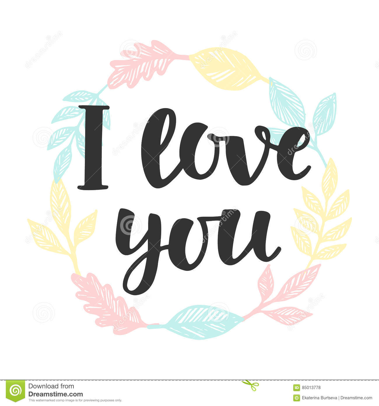I Love You Concept Stock Vector Illustration Of