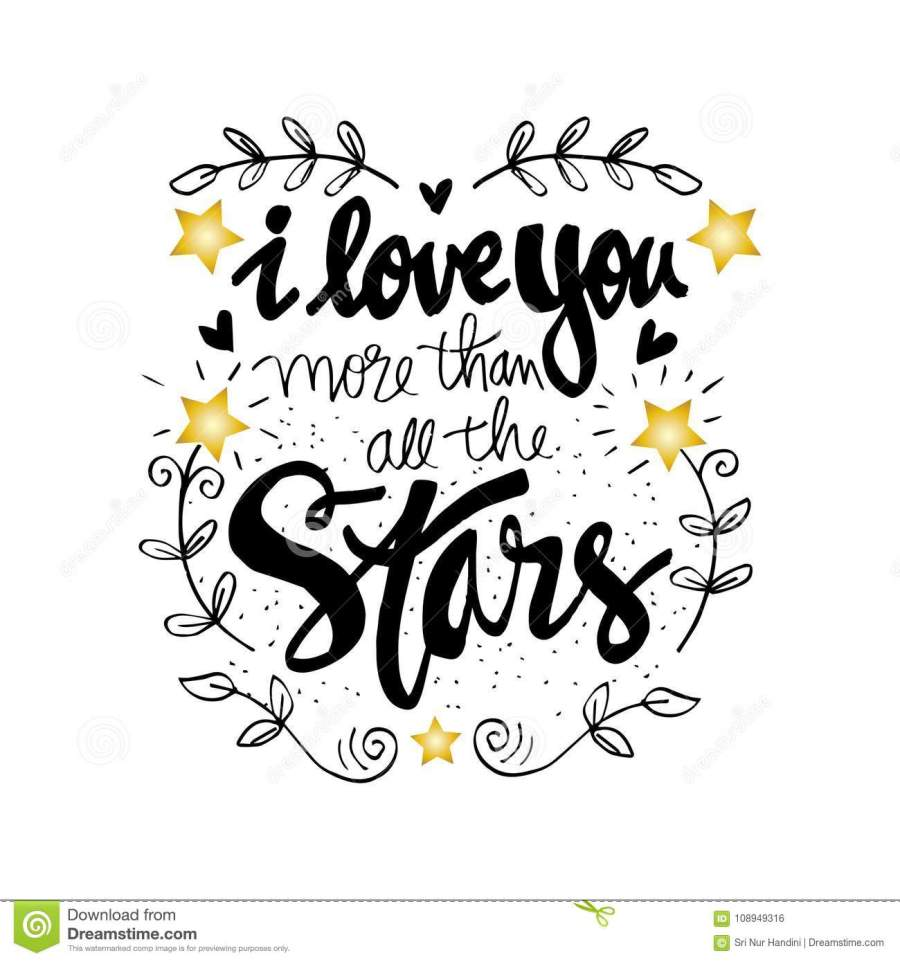 I Love You More Than All The Stars Stock Vector