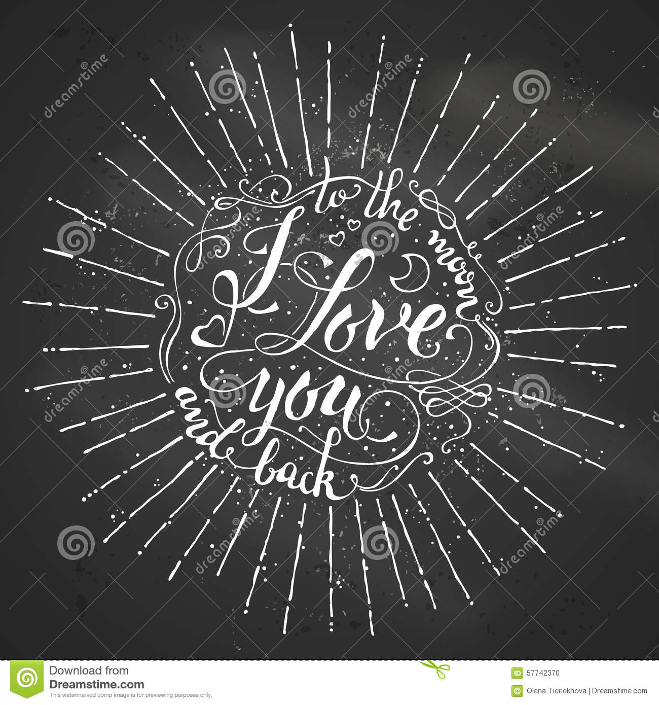 I Love You To The Moon And Back Stock Vector Image