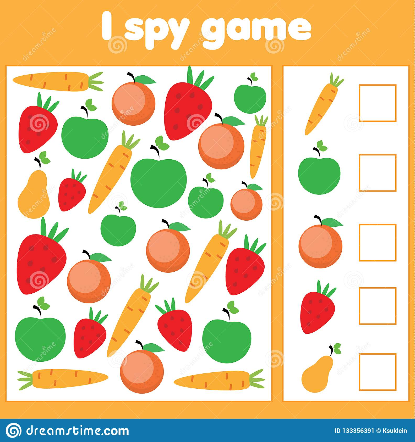I Spy Game For Toddlers Find And Count Vegetables And