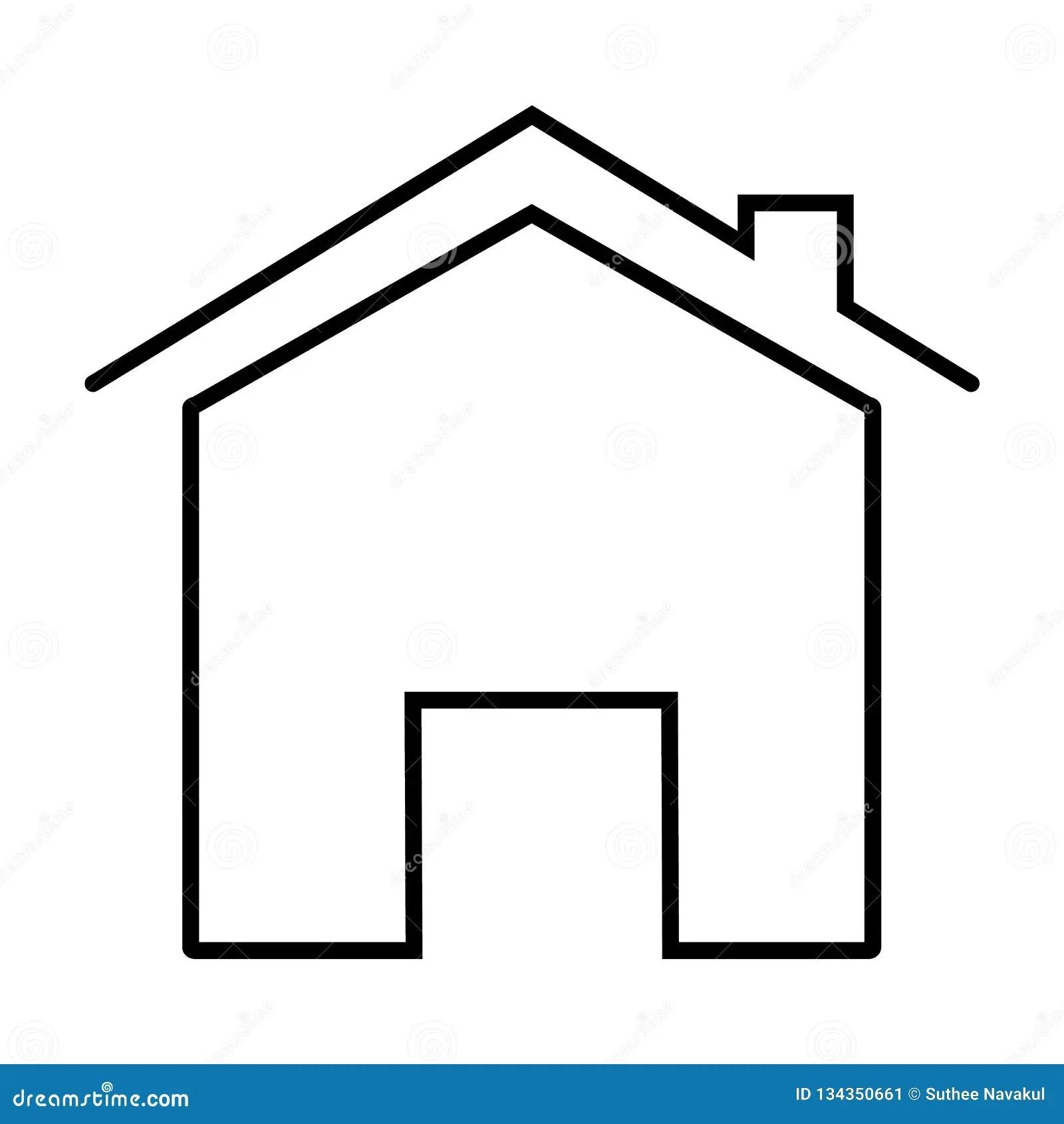 maison sur le fond blanc style plat