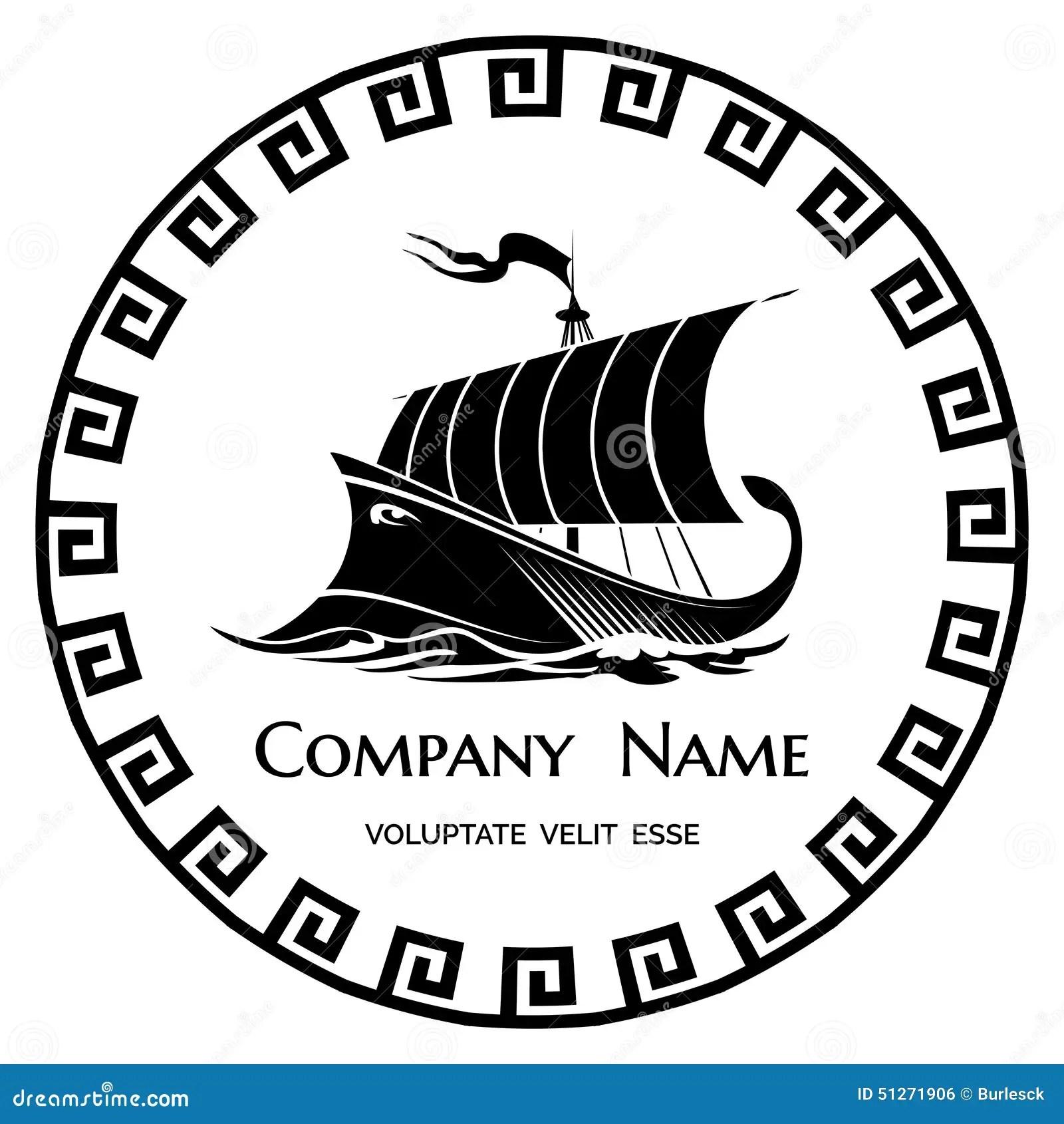 Icone De Logo D Office Du Grec Ancien Illustration De