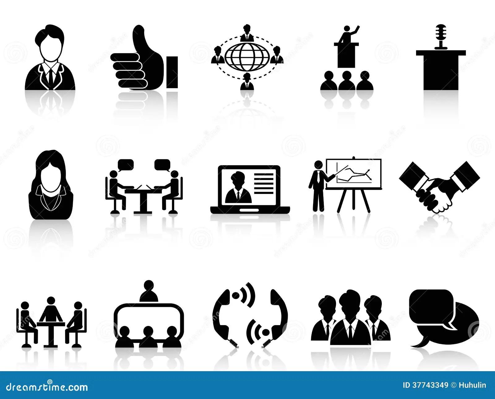 Icones De Reunion D Affaires Reglees Images Libres De