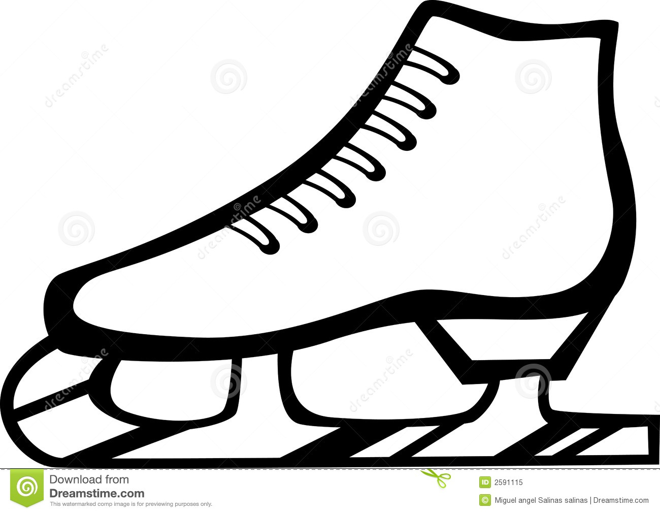 Ice Skate Vector Illustration Royalty Free Stock Photo