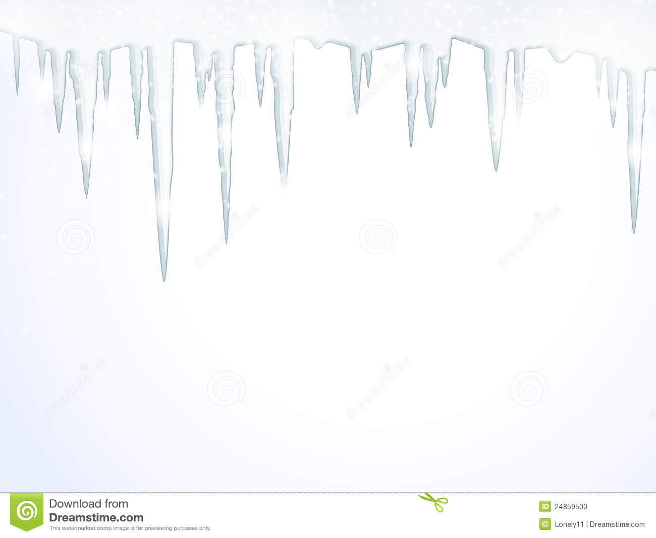 The Icicles Stock Vector Image Of Season February