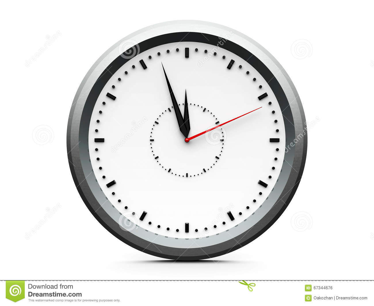 Icon Clock Without Numbers Stock Illustration