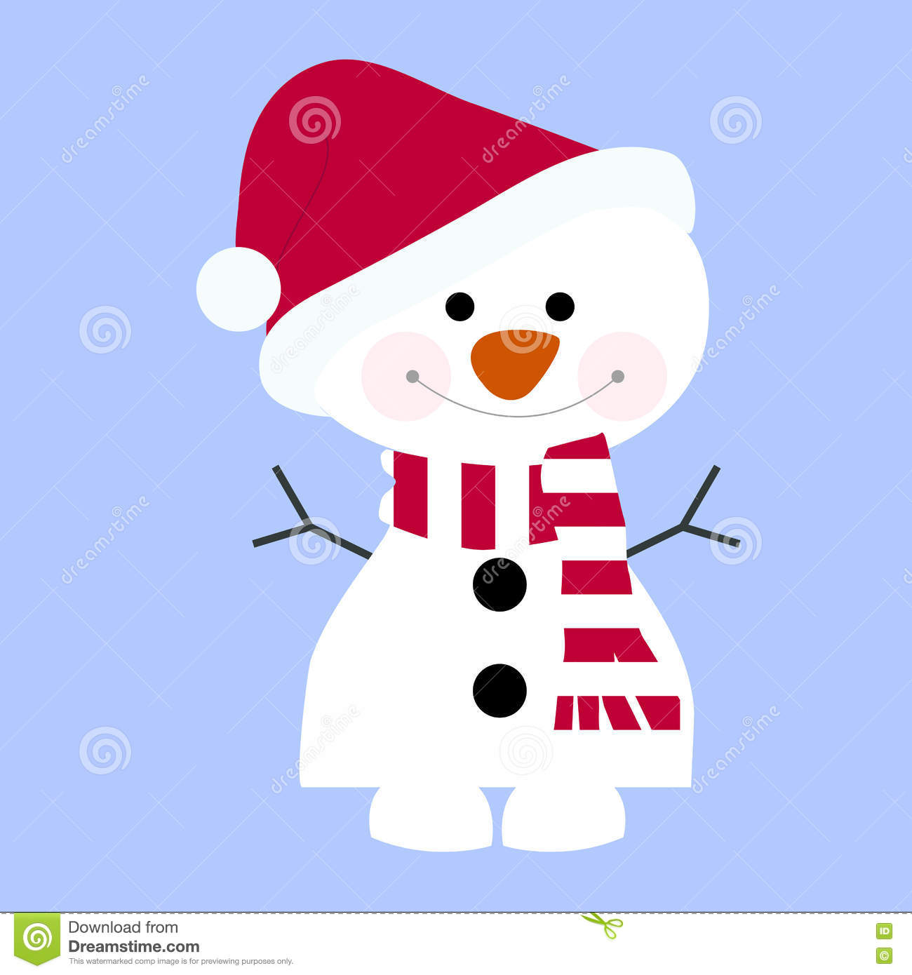 Snowman Scarf Hat And Template